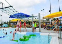 Floating play area at Parrot Island Water Park