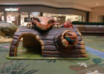 Cherry Creek Shopping Center featuring PLAYTIME play area featuring dinosaurs