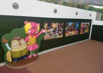 view of wall inside play area created by playtime at westfield centry city
