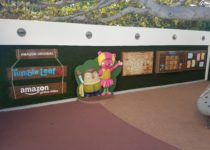 wall with interactive games created by playtime at westfield centry city