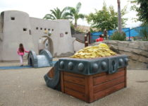 inside of pirate park with girl playing created by playtime at friendship square