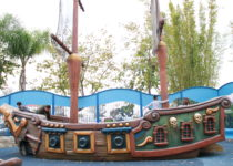 pirate ship created by playtime structure at friendship square