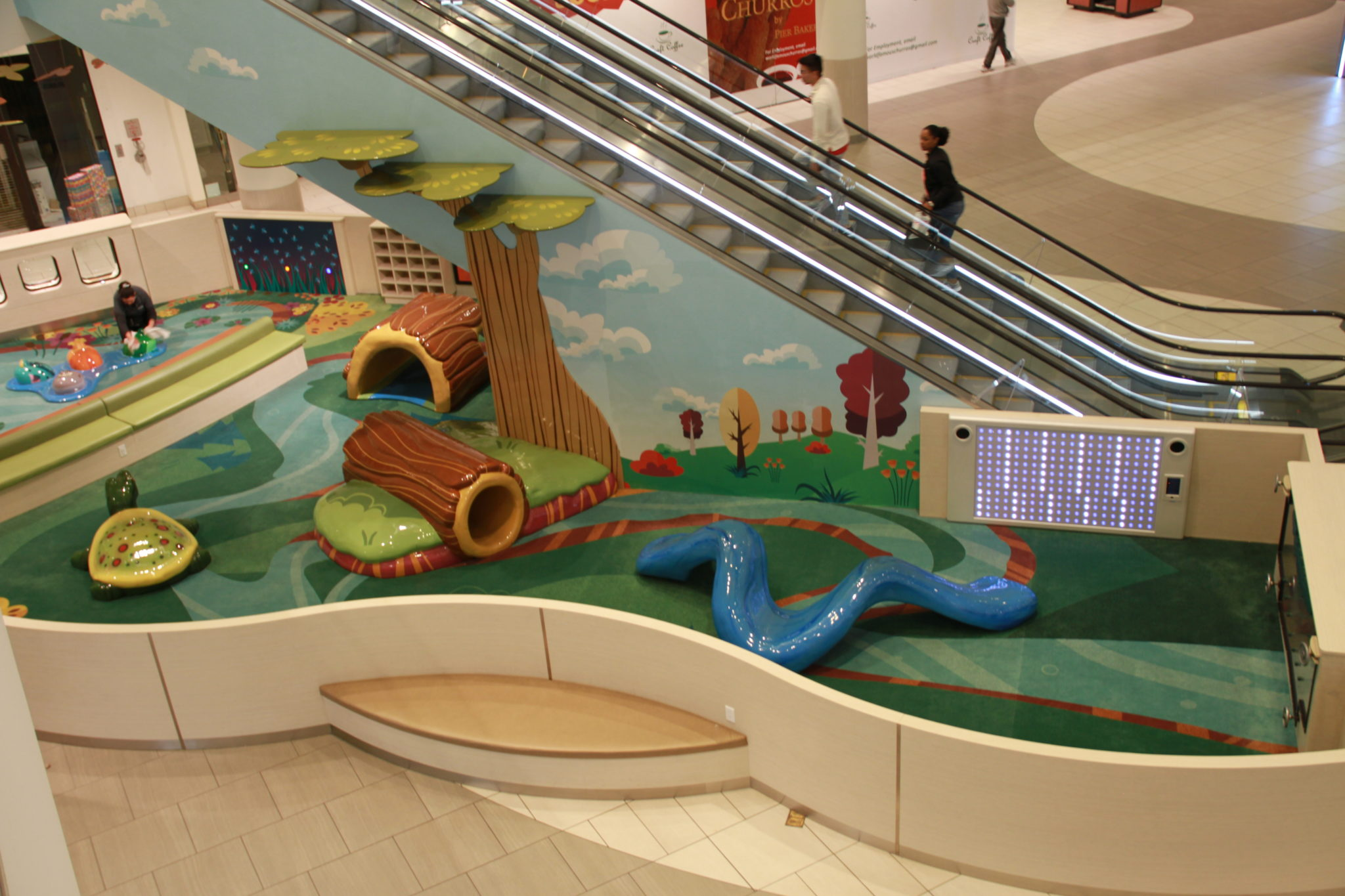 PLAYTIME play area at Del Amo Fashion Center side view