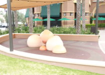 outdoor play area created by playtime at woodbury town center