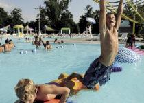 Kids enjoying themselves at Pawnee Plunge Water Park