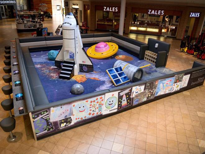 Space themed custom play area