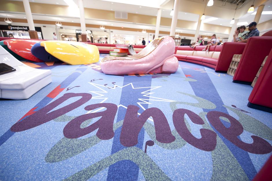 Dance themed custom play area