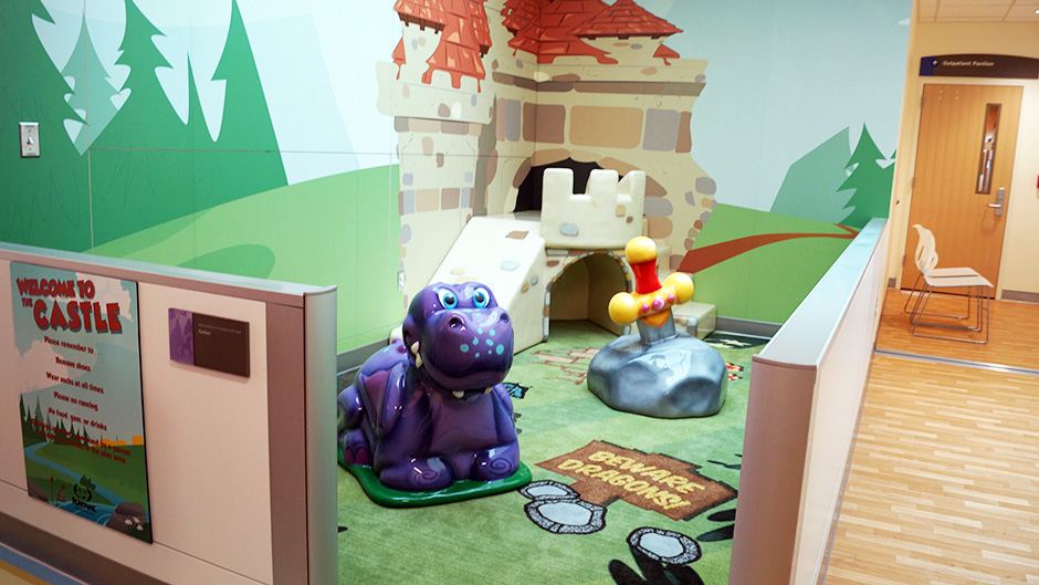 Custom play area at Childrens Hospital