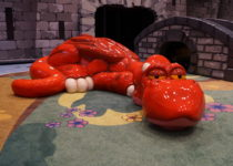 red dragon and bridge playtime structures at lakeside shopping center