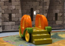 pumpkin carriage play structure by playtime at lakeside shopping center