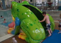East Ridge Rec Center Frog Slide - Water Theme Environment Created by Playtime