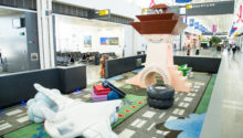 Dulles International Airport Play Area featuring air tower created by PLAYTIME