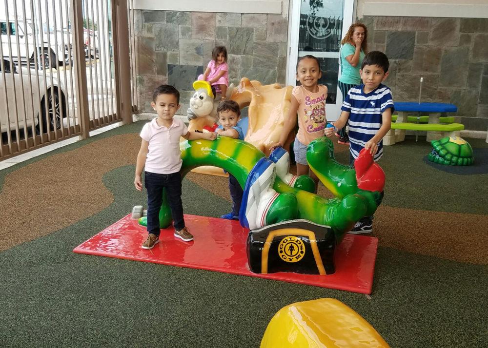Golds Gym custom play area