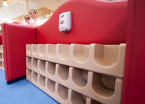 PLAYTIME play area showing cubbies Cary Towne Center