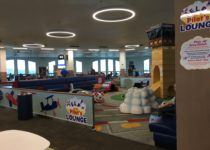 side view of seating area and playtime play area at el paso airport
