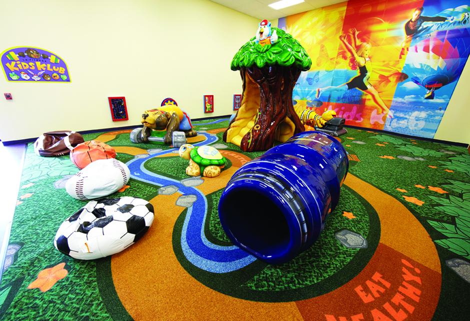 LA Fitness custom play area