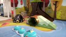 Indoor Playtime play area with play elements, slide, and ramp with tunnel