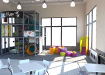 mcdonalds playplace area with music elements created by playtime