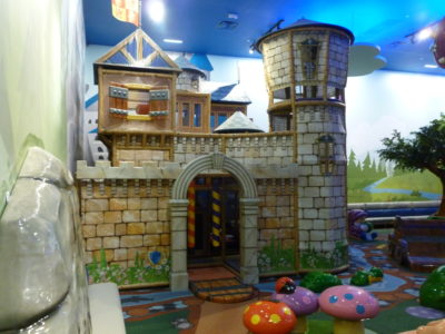 playtime structure castle at kids play area at memorial city hall