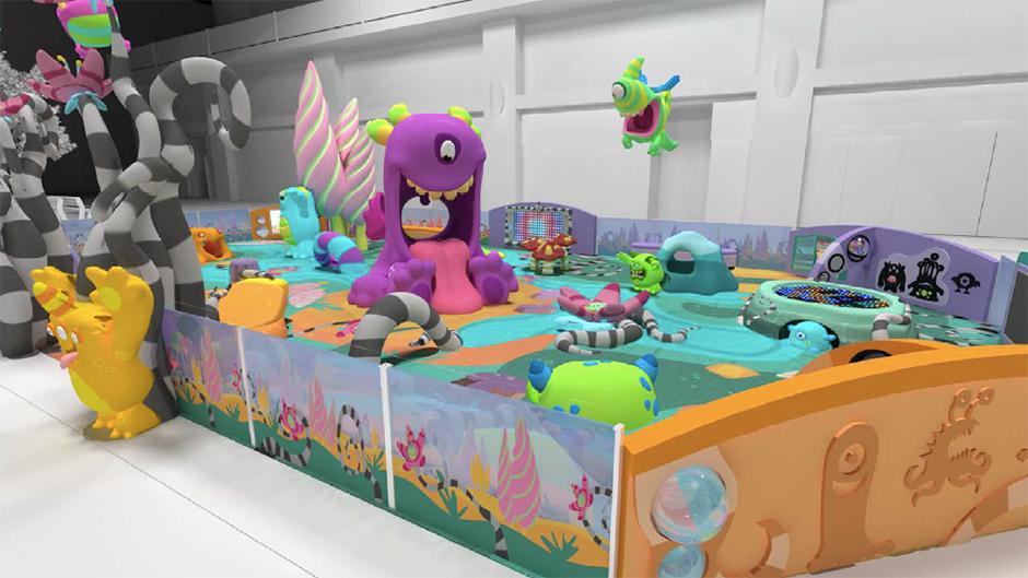 Custom play area monster theme