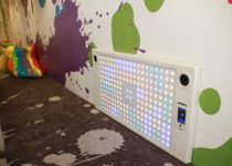 colorful playtime play area with interactive wall at burbank town center