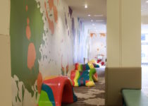 colorful playtime play area at burbank town center