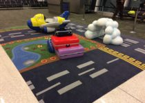 Playtime play area in Indianapolis Airport travel theme