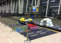Play area in Indianapolis airport travel themePLAYTIME play area