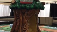 PLAYTIME play area at Ohio Valley mall showing tree and Brutus