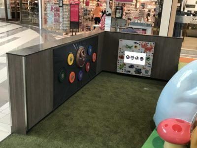 interactive wall at west town's PLAYTIME play area
