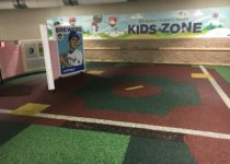 playtime kid zone with oversized base ball cards with photo op at milwaukee brewers miller park