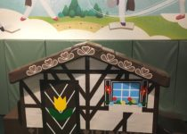 mural and play structure by playtime at kids zone at milwaukee brewers miller park