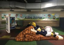 playtime kid zone with player sliding into home at milwaukee brewers miller park