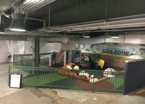 full view of kids zone created by playtime at the milwaukee brewers miller park