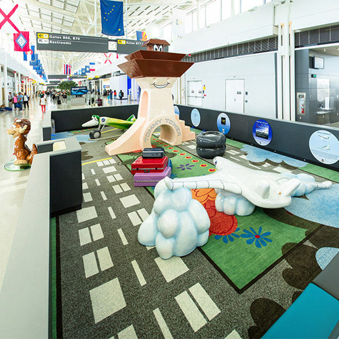 Washington Dulles Airport -Grasshopper NASA Play Theme Environment Created by Playtime