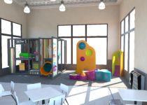 mcdonalds playplace area with places to climb created by playtime
