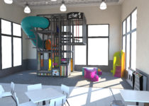 mcdonalds playplace area with slide and places to climb created by playtime
