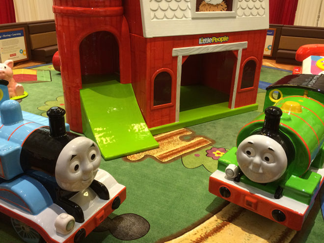 Thomas the Train custom play area