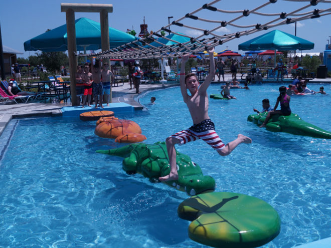 Typhoon Texas swimming pool with floatables