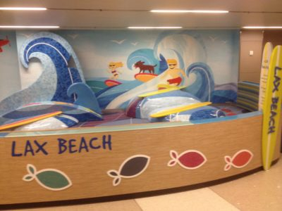 Westfield LAX Airport Beach Play Theme Environment Created by Playtime
