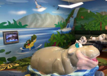 Wichita Intl Airport: Zoo Theme Hippo Tiger -Theme Environment Created by Playtime