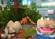 Wichita Intl Airport: Zoo Theme Hippo Rhino Giraffe -Theme Environment Created by Playtime