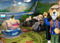Wichita Intl Airport: Zoo Theme Hippo Tiger Monkey -Theme Environment Created by Playtime