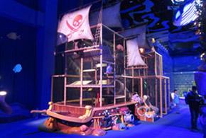 Custom indoor pirate ship playground
