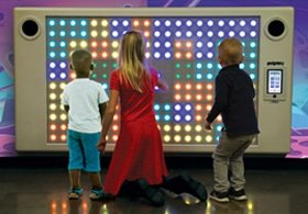 Custom indoor interactive play area indoors
