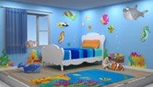 3D drawing of custom bedroom design