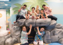 kids and parents at pearl dental play area by playtime ocean theme