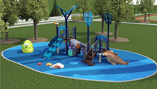 3D drawing of custom playround in park