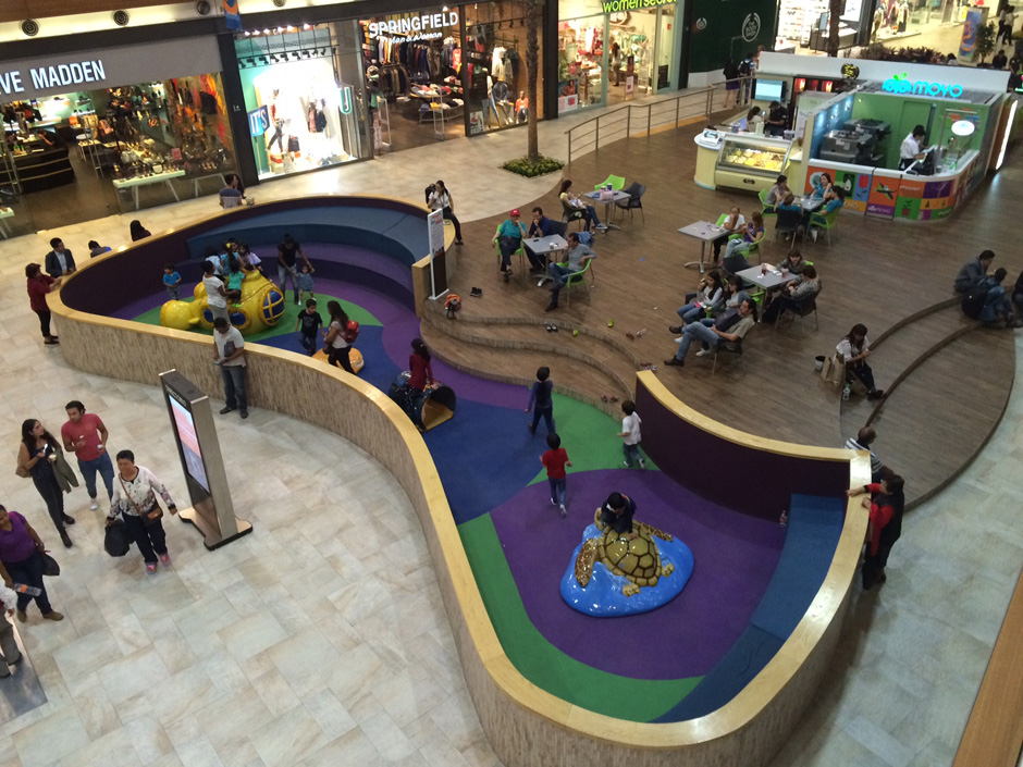 Custom play area in mall