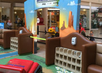 PLAYTIME play area at mall showing cubbies